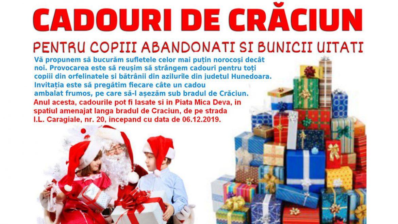 Cadouri de Crăciun <br>pentru copiii abandonați <br>și bunicii uitați